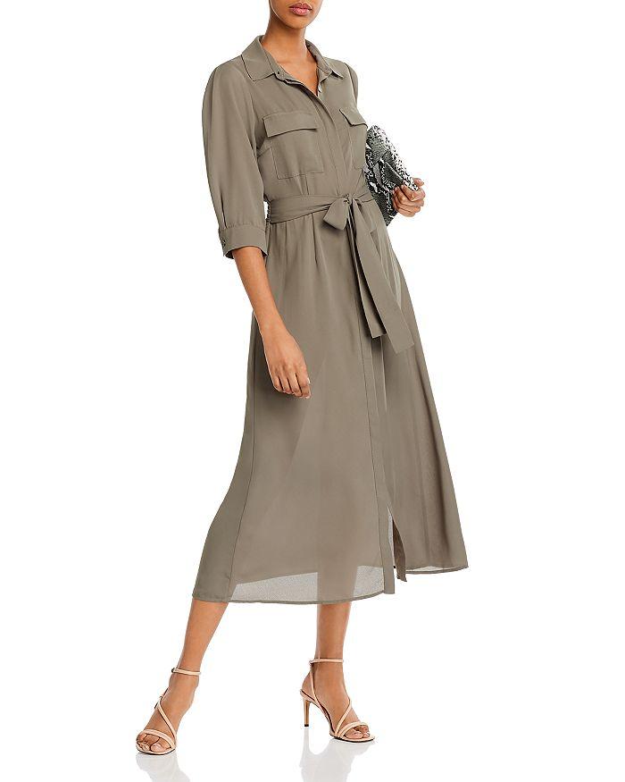 AQUA - Utility Shirt Dress - 100% Exclusive