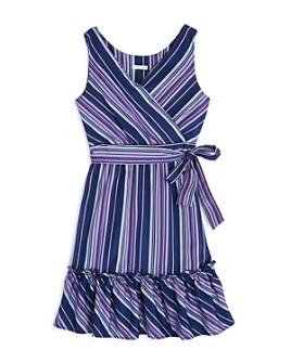 Habitual Kids - Girls' Baylee Striped Ruffled Sleeveless Dress - Big Kid