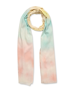 Iris Tie-Dye Cotton Scarf