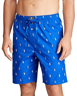 Polo Ralph Lauren - Cotton Logo-Print Relaxed Fit Pajama Shorts