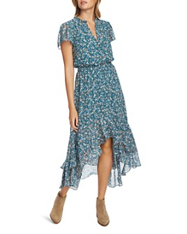 1.STATE - Floral-Print High/Low Dress