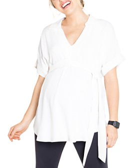Ingrid & Isabel - Tie-Waist Maternity Top