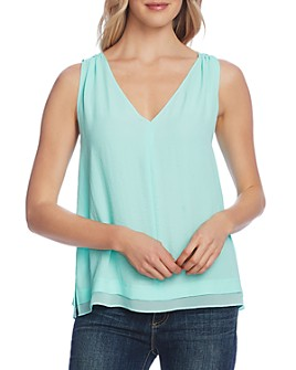 VINCE CAMUTO - Sheer-Hem Tank Top
