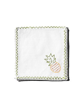 Hibiscus Linens - Cocktail Napkins, Set of 4 - 100% Exclusive