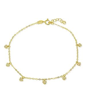 Pave Heart Charm Ankle Bracelet