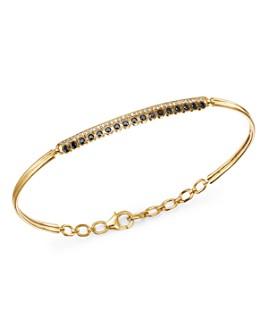 Bloomingdale's - Black & White Diamond Bracelet in 14K Yellow Gold - 100% Exclusive