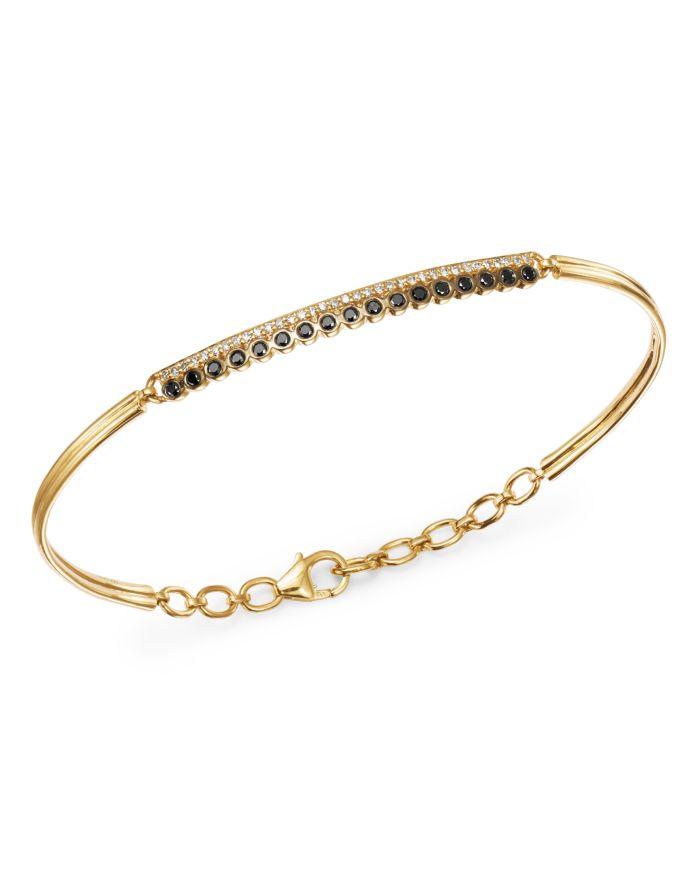Bloomingdale's Black & White Diamond Bracelet in 14K Yellow Gold - 100% Exclusive  | Bloomingdale's
