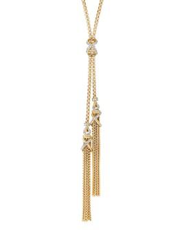 "David Yurman - Helena Tassel Necklace in 18K Yellow Gold with Diamonds, 34"""