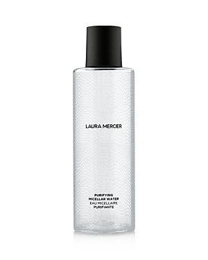 What It Is: This all-in-one, no-rinse, skin-soothing micellar water is the quintessential step of the Laura Mercier Skin Essentials routine. What It\\\'S For: All skin types What It Does: Infused with vitamin- and amino acid-rich white waterlily extract and noni leaf extract, the micellar water purifies and reinvigorates skin. Even stubborn makeup is effectively dissolved in one sweep, leaving skin feeling soft, nourished and hydrated. Free Of. Parabens, sulfates, talc How To Use It: Saturate a cot