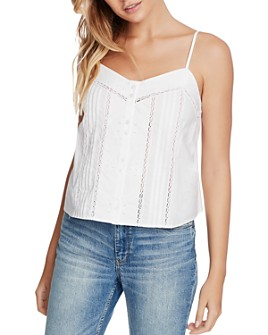 1.STATE - Button-Front Cotton Camisole