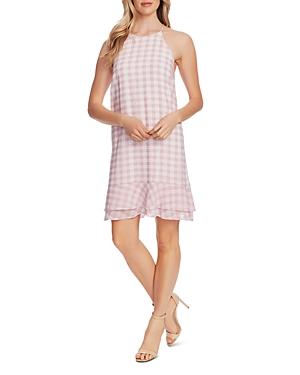 CeCe Tiered Gingham Dress-Women