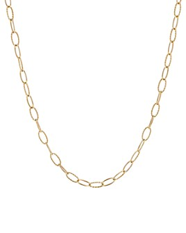David Yurman - Stax Elongated Oval Link Necklace in 18K Yellow Gold, 36""