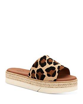 Aquatalia - Women's Shayna Calf Hair Espadrille Platform Sandals