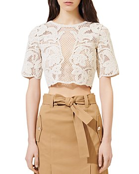 Maje - Ibiza Collection Leona Open-Knit Crop Top