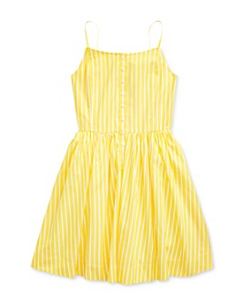Ralph Lauren - Girls' Cotton Striped Fit-And-Flare Dress - Big Kid