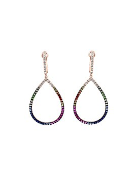 Bloomingdale's - Rainbow Sapphire & Diamond Teardrop Drop Earrings