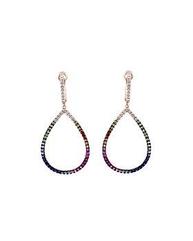 Bloomingdale's - Rainbow Sapphire & Diamond Teardrop Drop Earrings