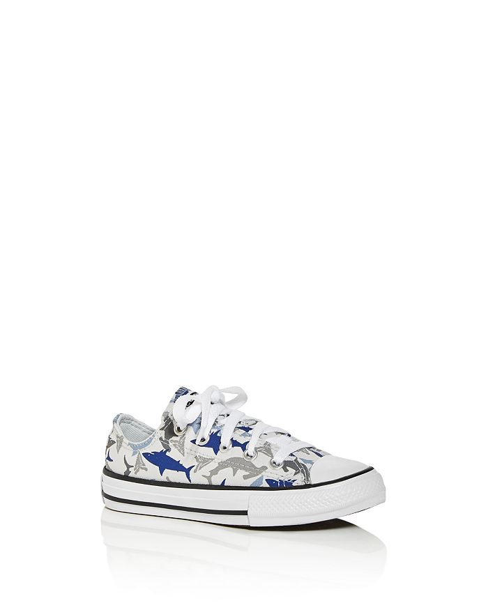 Converse - Unisex Chuck Taylor All Star Shark Low-Top Sneakers - Walker, Toddler, Little Kid