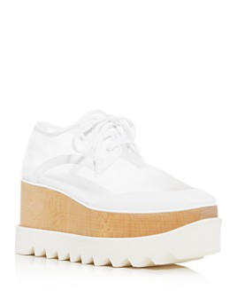 Stella McCartney - Women's Mesh Platform Wedge Sneakers