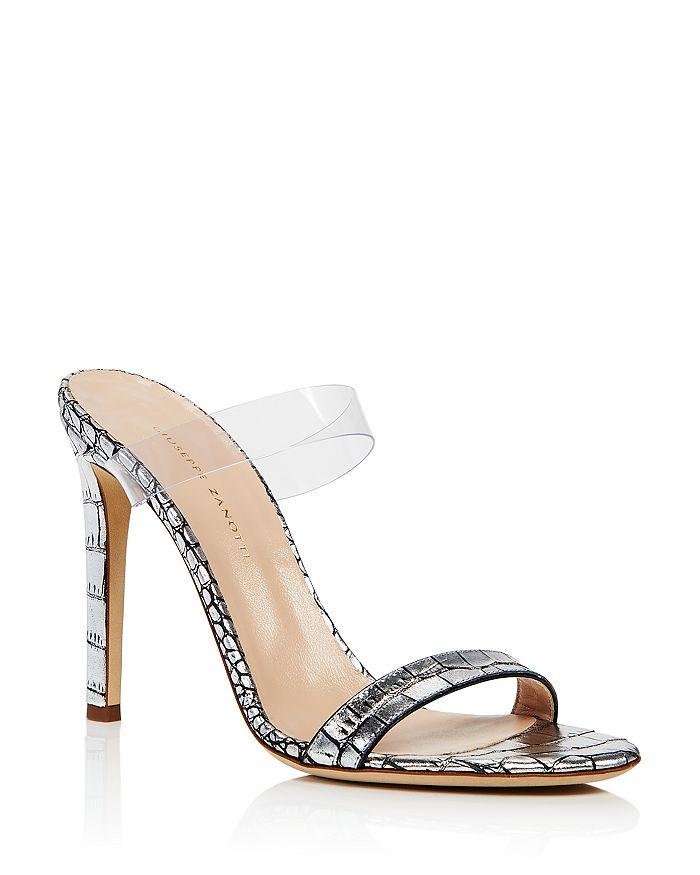 Giuseppe Zanotti - Women's Double Strap High-Heel Slide Sandals