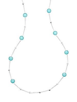 Ippolita Sterling Silver Lollipop Turquoise Doublet Stud Long Statement Necklace, 38-Jewelry & Accessories