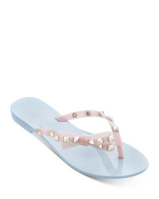 Harmonic Studded Thong Sandals