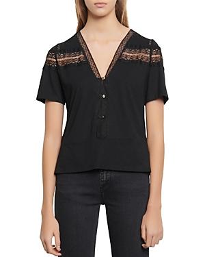 Sandro Odel Lace T-Shirt-Women