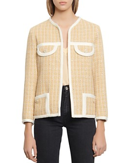 Sandro - Mielle Tweed-Style Jacket