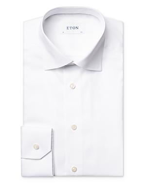 Eton Cotton Satin Herringbone Slim Fit Dress Shirt