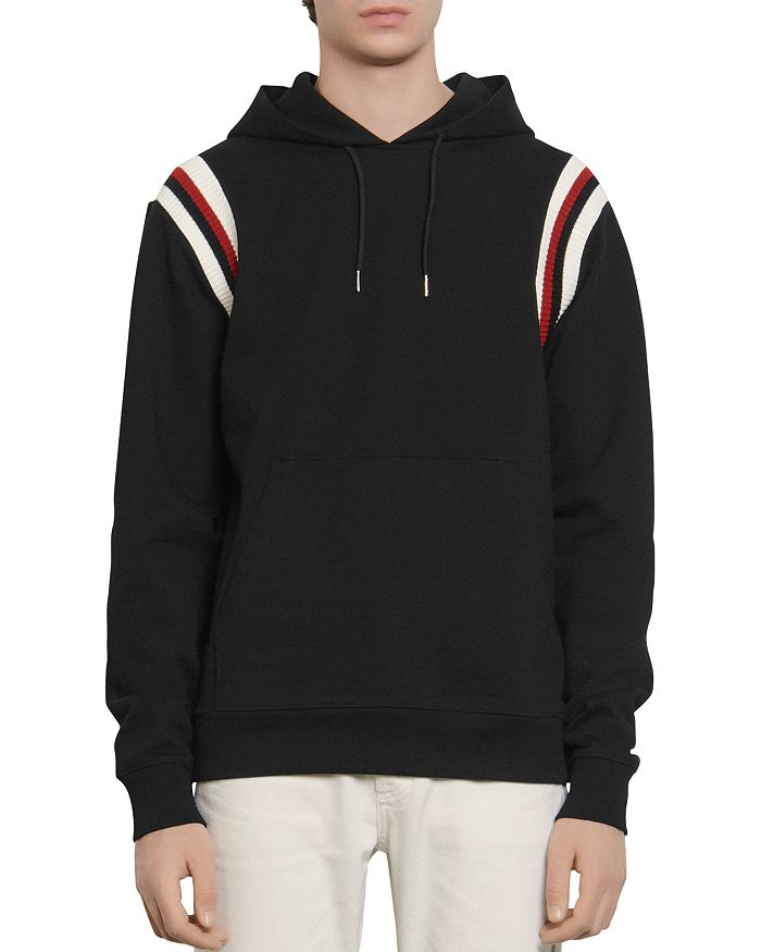 Sandro - Slim-Fit Striped Band Hoodie