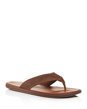 UGG® - Men's Seaside Leather Flip-Flops