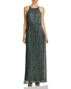 HALSTON - Braided-Waist Strappy-Back Gown