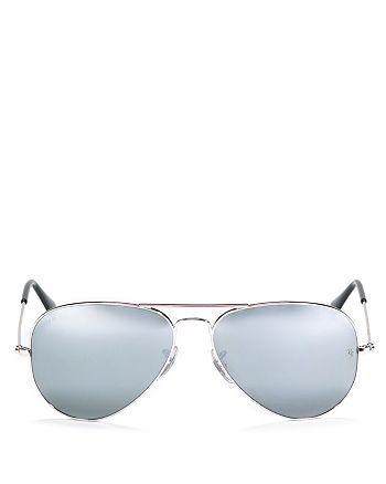 Ray-Ban - Classic Mirrored Aviator Sunglasses, 58mm