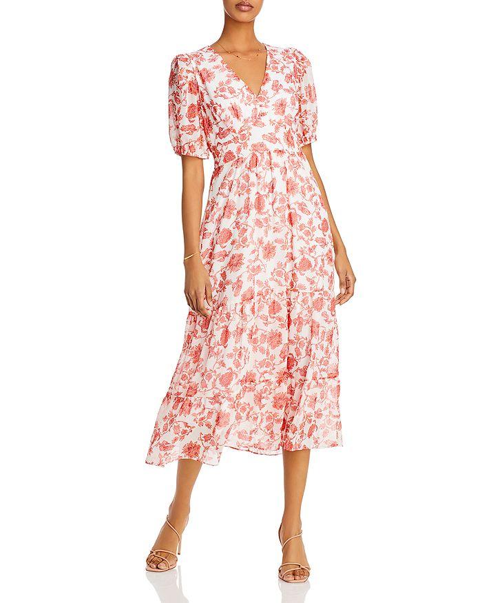 AQUA - Floral Print Midi Dress - 100% Exclusive
