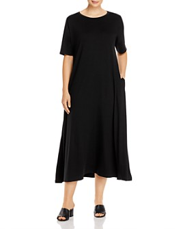 Eileen Fisher Plus - Crewneck Midi Dress