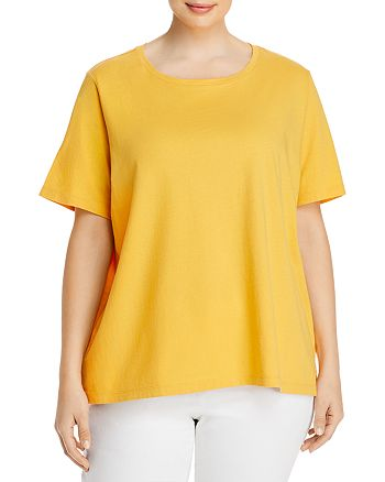 Eileen Fisher Plus - Organic Cotton Crewneck Tee