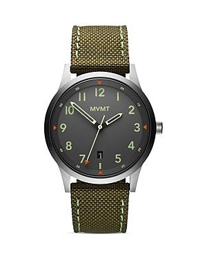 Mvmt Field Canvas Strap Watch, 41mm