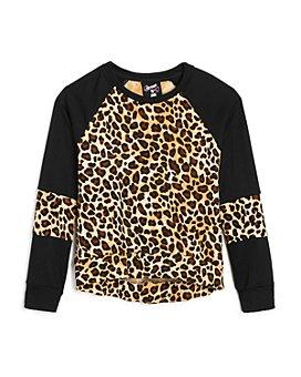 Flowers by Zoe - Girls' Leopard Long Sleeve Sweatshirt - Little Kid