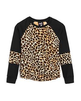Flowers by Zoe - Girls' Leopard Long Sleeve Sweatshirt - Big Kid
