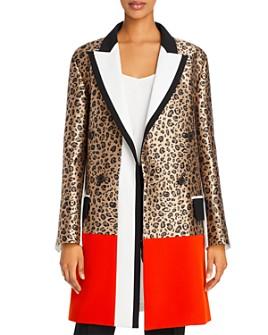 Barbara Bui - Leopard-Print Jacquard Coat