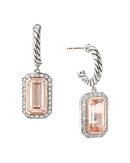 David Yurman - Sterling Silver Novella Drop Earrings with Gemstones and Pavé Diamonds
