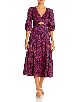Parker - Lillie Printed Cutout Dress