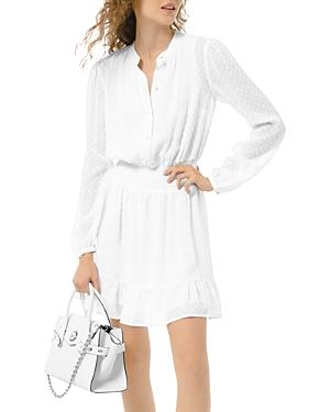 Michael Michael Kors Textured Jacquard Mini Dress-Women
