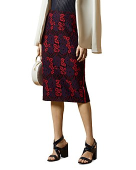 Ted Baker - Zinniaa Floral Lace Pencil Skirt