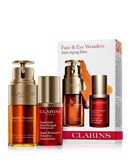 Clarins - Double Serum & Total Eye Concentrate Set ($174 value)