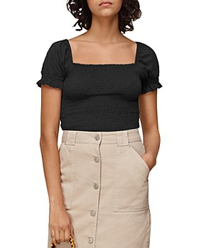 Whistles - Bex Ruched Frill Top