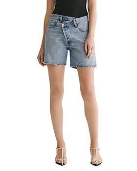AGOLDE - Criss Cross Cotton Denim Shorts in Momentum