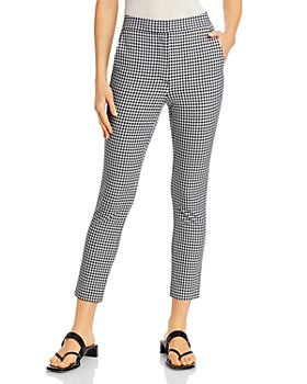 rag & bone - Layla Gingham High-Waisted Ankle Pants