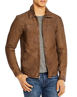 John Varvatos Star USA - Danny Distressed Leather Slim Fit Jacket