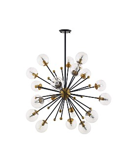 Modway - Constellation Glass and Brass Pendant 18-Light Chandelier